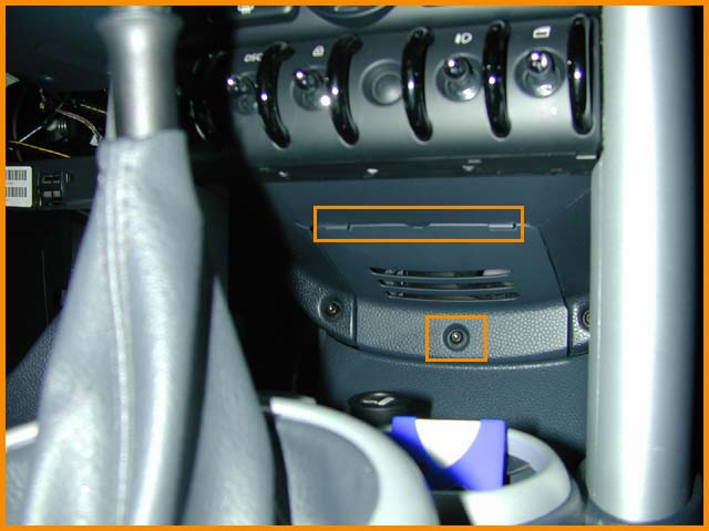 Aux Cable Install In Panel Below Toggle Switches With Pics Mini Cooper Forum